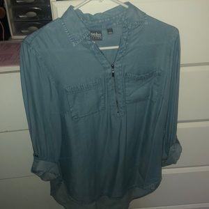 Long enough to wear as a dress shirt
